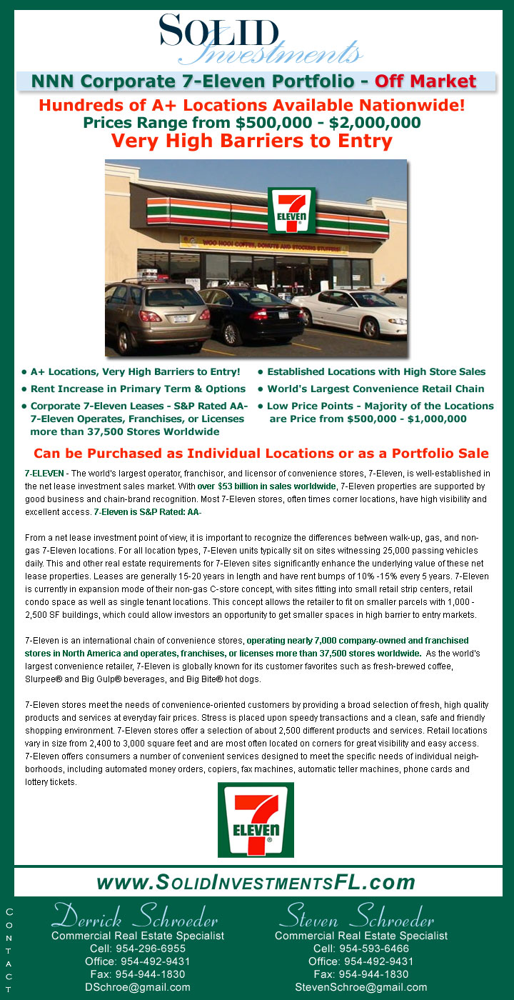 Corporate NNN 7-Eleven Portfolio For Sale